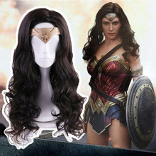 Anime Wonder Cosplay Wigs Princess Diana Wig Heat Resistant Synthetic Hair Halloween Party Game Women