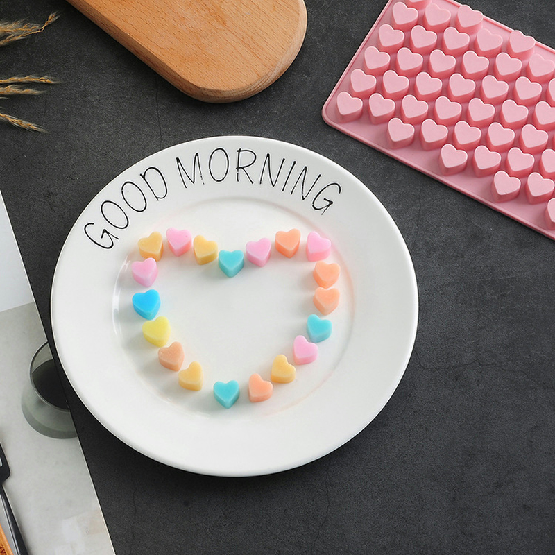 1Pcs 3D Silicone Cake Mould Christmas Gifts Silicone Heart Chocolate Molds Jelly Ice Molds 55 Hearts Pudding Cake Mould Bakeware in Cake Molds from Home Garden