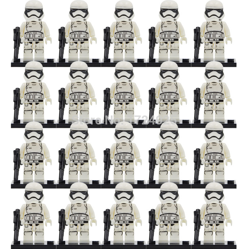 Wholesale 20pcs/lot Star Wars Starwars Clone Trooper Figure Darth Vader Yoda Obi Blocks Models Building Toys Set Legoing