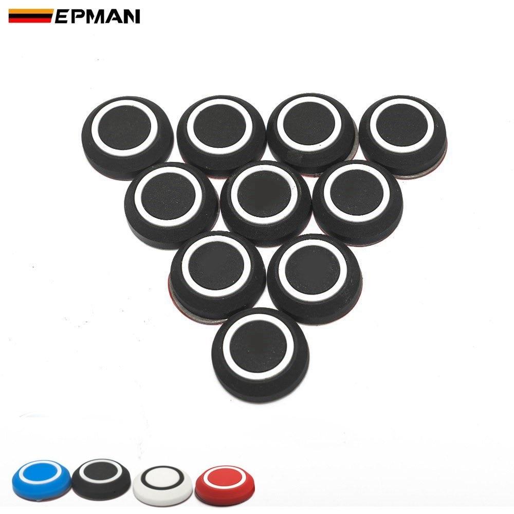EPMAN 10 Pcs Door Edge Trim Guard Corner Bumper Protector Round Protective Sticker Car Anti-Collision Anti-Scratch EPJDP1025