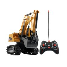 цены Mini RC Trucks Excavator Bulldozer 1:24 Alloy Engineering Car Dump Truck Crane Electric Vehicle Toys With light For Kids Gifts