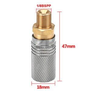 Image 4 - تمديد PCP الهواء شحن الإفراج السريع مأخذ توصيل محول 1/8 BSP