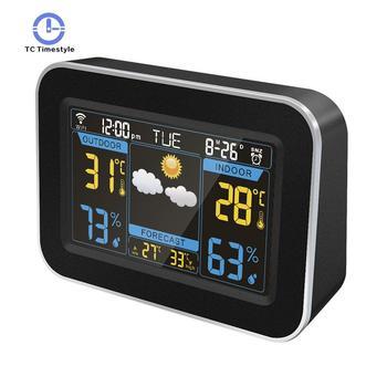 Weather Forecast Alarm Clock Smart WIFI Table Clocks Temperature Humidity Display Electronic Clock LED Digital Decoration Clocks