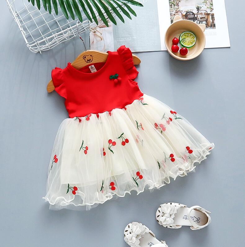 Vestidos de casamento para meninas, vestidos de verão para bebês, recém-nascidos, modernos, bonitos, laços, princesa, vestidos de festa para crianças pequenas, roupas de aniversário
