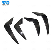 M2 Carbon Front Canard For BMW F87 bumper Lips Body Kits Flap exterior trim styling 2014 2015 2016 2017 2018 2019
