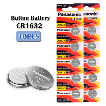 10pcs/2cards original new battery for PANASONIC cr1632 3v button cell coin batteries for watch computer cr 1632 100pcs 10cards ag0 lr63 379a sr521sw sr521 lr521 lr69 sr63 1 5v coin cell button batteries for watch computer clock