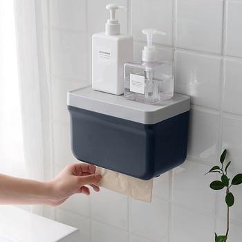 Kreatywny papier toaletowy bez dziurkacza pudełko na chusteczki papier kuchenny rolka papieru toaletowego pudełko na papier domowy stojak na papier toaletowy tanie i dobre opinie CN (pochodzenie) Nowoczesne Wiszące typu Tkanki kanister Zdejmowane tkanki