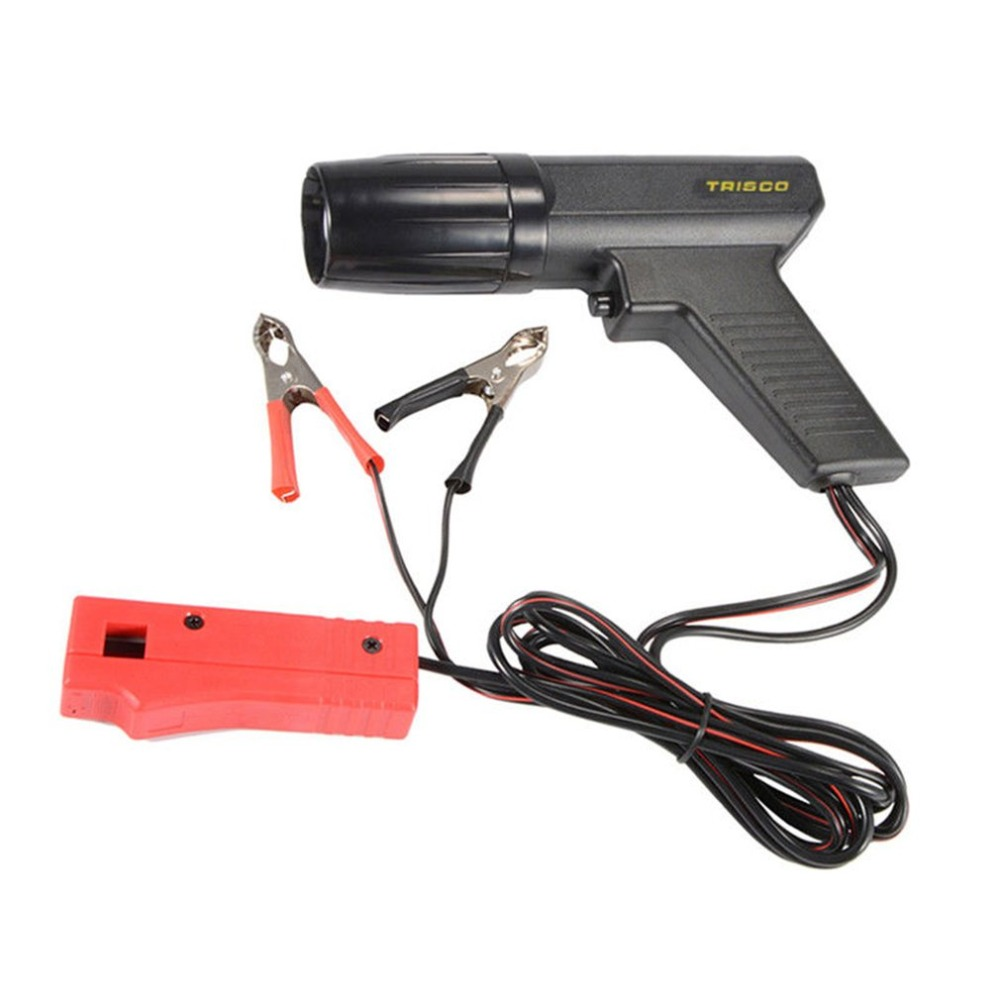 12V Professional Car Motorcycle Engine Timing Light Ignition High Beam Timing Strobe Light Inductive Timing Lamp Detector