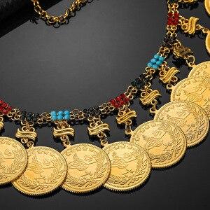 Image 4 - Metalen Munt Grote Allah Moslim Kettingen Voor Vrouwen Arabische Munten Luxe Huwelijksgeschenken Islam Midden oosten Afrikaanse Sieraden Nieuwe
