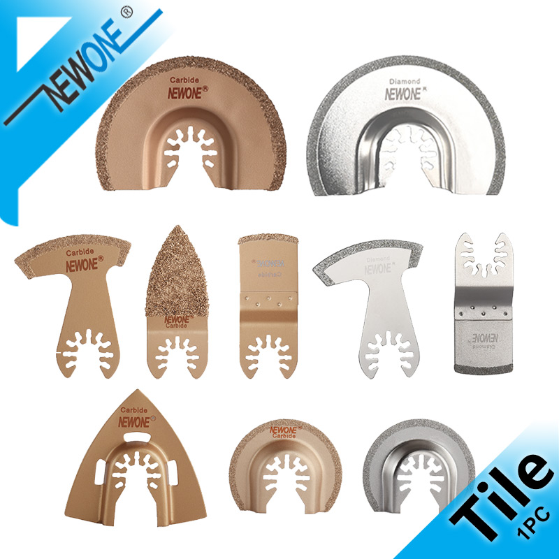 NEWONE Diamond Triangle Rasp Oscillating Saw Blades Carbide E-cut For Rough Sanding Fillers, Tile Ceramics Multitool Saw Blade