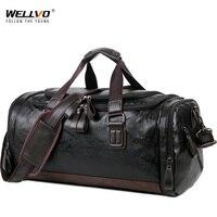 Männer Qualität Leder Reisetaschen Tragen auf Gepäck Tasche Männer Reisetaschen Handtasche Lässig Reisen Tote Große Wochenende Tasche Heißer XA631ZC
