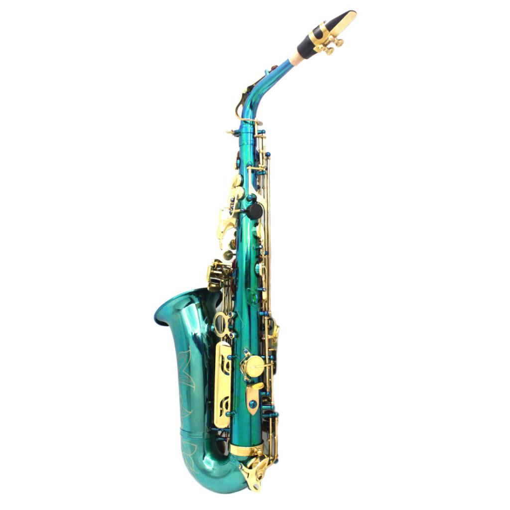 Exquisite Messing Eb Alto Saxophon Sax mit Lagerung Fall Mundstück Straps Handschuhe Reinigung Tuch - 2