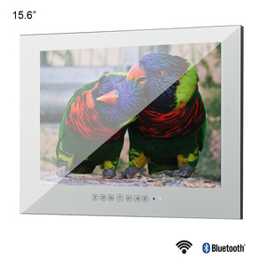 Souria 15.6 inch Android 10.0 Bathroom LED TV IP66 Waterproof Hotel Vanishing WIFI HD (Magic Mirror /Black /White)