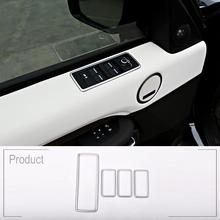 4pcs ABS Chrome Car Window Lift Switch Button Frame Cover Trim For Land Rover Discovery 5 LR5 2017 Car-styling Auto Accessory
