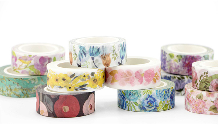 Various Flower Diy Washi Masking Tape(1piece)