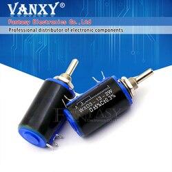 2 шт. WXD3-13-2W 6K8 Ом 6,8 K WXD3-13 2 Вт Поворотный многооборотный потенциометр с проволочной обмоткой