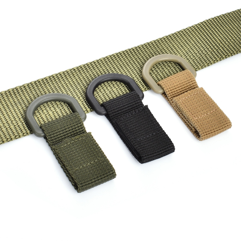 Outdoor (Tactical) Molle Webbing Buckle Climbing Belt D-Ring Carabiner Buckle Hunting Camping Hanging Backpack Key Hook Clasp