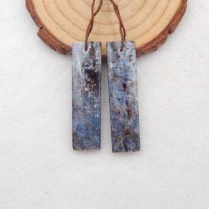 Sales 1Pairs Blue Kyanite Gemstone Earring Bead 42x11x4mm 12g