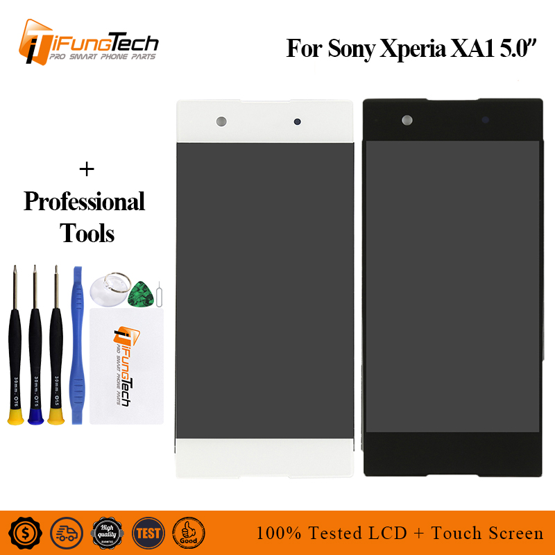 Original Touch Screen For <font><b>SONY</b></font> Xperia XA1 XA 1 G3116 G3121 G3123 G3125 <font><b>G3112</b></font> <font><b>LCD</b></font> Display Digitizer Assembly <font><b>LCD</b></font> With frame image