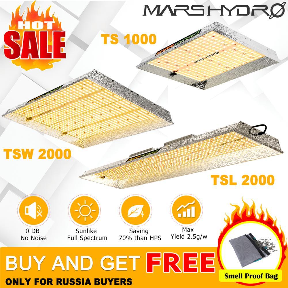 2019 Mars Hydro TS 1000W 2000W 3000W LED Grow Light Lamp Sunlike Full Spectrum Indoor Plants Veg Flower Hydroponics Graden