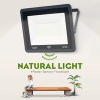 Iluminación Exterior Natural con Sensor de Radar, Foco Led para Exterior, 50w, 100w, 220v, lámpara de pared, proyector