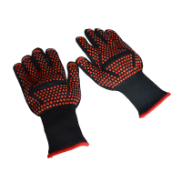 Top 300 500 Centigrade Extreme Heat Resistant Bbq Gloves   Lining Cotton   For Cooking Baking Grilling Oven Mitts Red|Oven Mitts & Oven Sleeves|   -