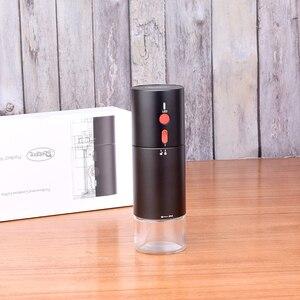 Image 2 - USB 충전식 커피 밀 휴대용 커피 분쇄기 304 스테인레스 스틸 버 전기 콩 밀 자동차 분쇄기