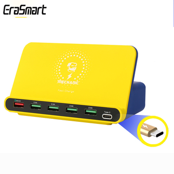6-port USB smart charger supports PD protocol iCharge6 mobile phone tablet
