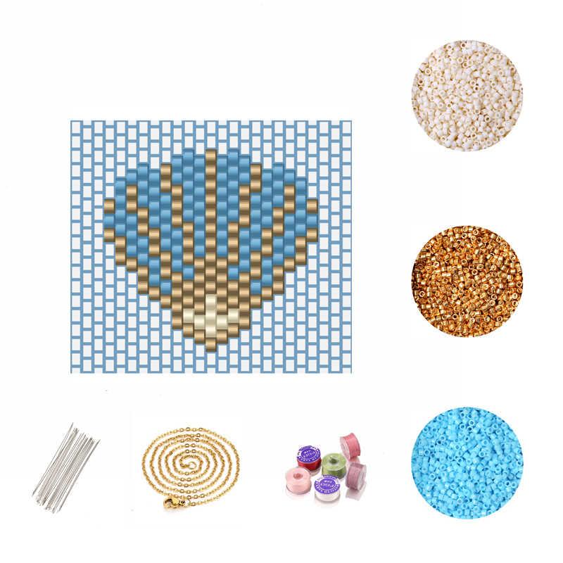 FAIRYWOO Boho מעטפת שרשרת לנשים כחול תכשיטי מיוקי חרוזים אביזרי ערכת DIY תכשיטי ביצוע ערכת חדש אופנה סיטונאי