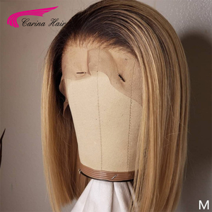 Image 3 - Short Bob Season Short Bob Wigs Brazilian Remy Hair Meddle Ratio1b 27 4x4 Closure wig and 13X6 Frontal Carina Human Hair Wigs