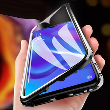 Double Side Magnetic Adsorption Glass For Honor 9A 9C 9X Pro X10 Max Note 10 20 Lite 30 HUAWEI P40 Y7P Y9P Y9S Phone Case