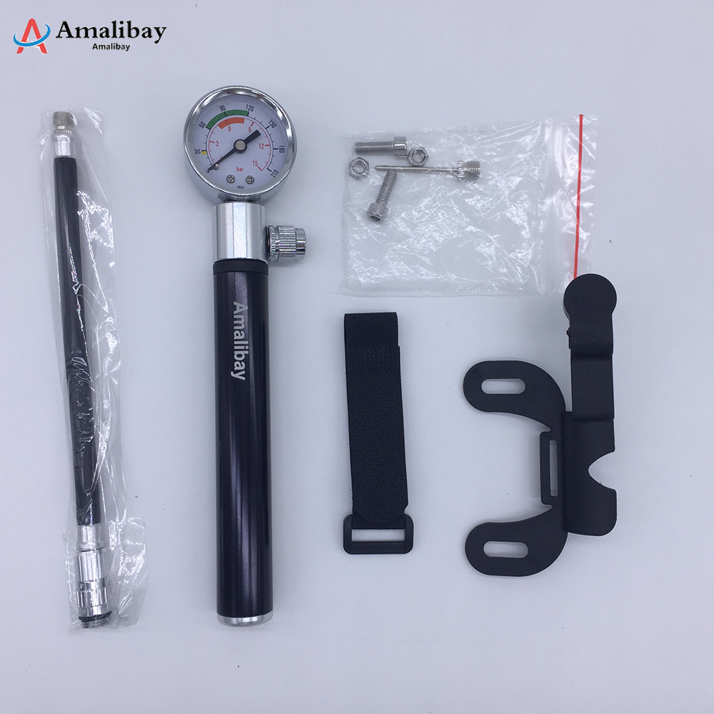 Xiaomi M365 Tire High Pressure Mini Pump With Gauge Hose Xiaomi Scooter Tire Hand Air Inflator 210 PSI Portable Pump marking tools