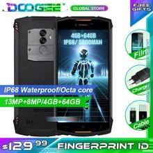 DOOGEE S55 Rugged Phone 5.5 inch 18:9 IP68 Waterpoof Dustproof Smartphone MTK6750T 5500mAh 4GB 64GB Mobile Phone