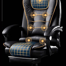 Boss Computer Chair Office  Home  Rotatable Massage Chair Lifting Adjustable  Chair  Business Comfort Chair With Footrest luxurious and comfortable office chair at the boss computer chair flat multifunction chair capable of rotating and lifting