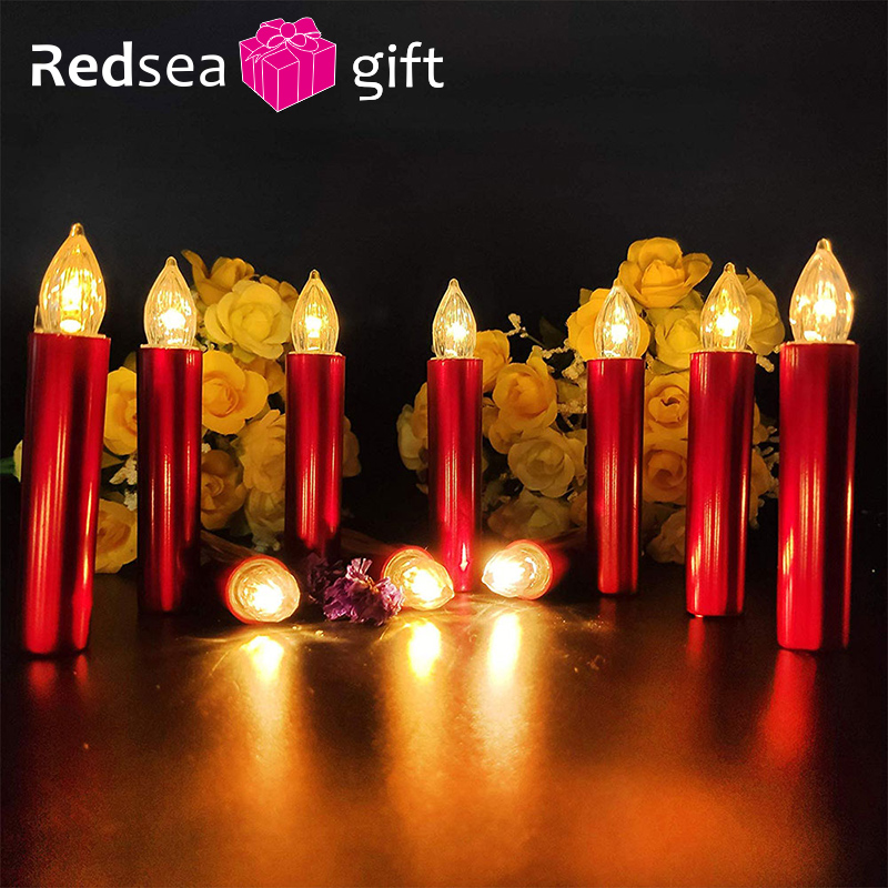Velas de Navidad decoración de luz sin llama vela Led velas de fiesta de té velas electrónicas bolsa de regalo de la boda|Velas|   - AliExpress