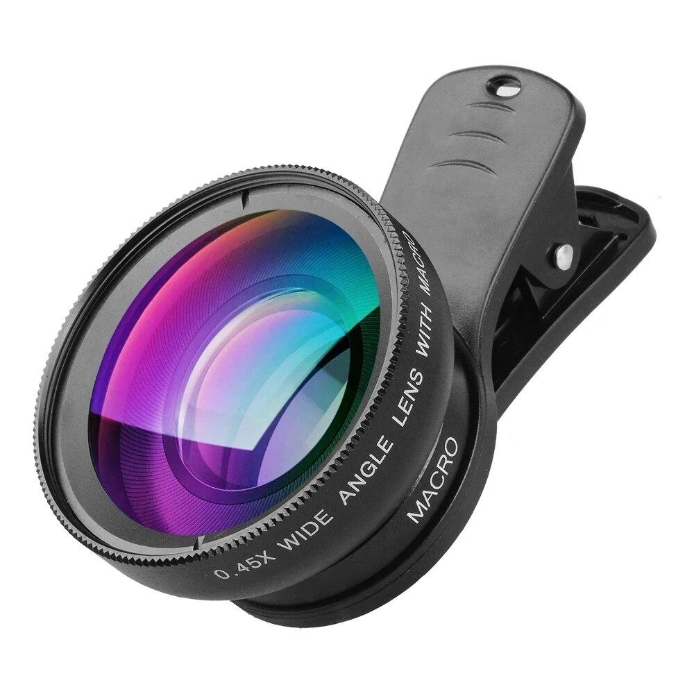 TOKOHANSUN Phone Lens kit 0.45x Super Wide Angle & 12.5x Super Macro Lens HD Camera Lentes for iPhone 6S 7 Xiaomi All cellphone