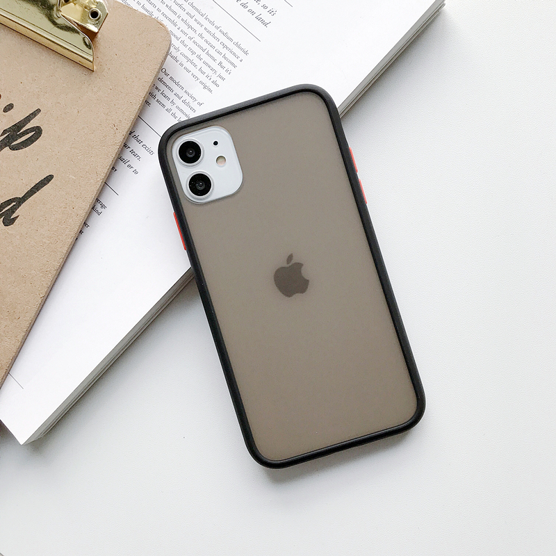 Transparent Silicone Matte Clear Back Cover Bumper Phone Case For iPhone Models 3