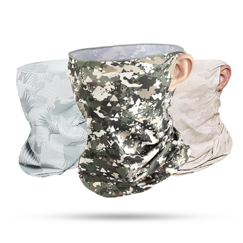 Summer Ice Silk Scarf For Men Riding Magic Turban Outdoor Dust-proof Face Mask Hanging Ear Anti-UV Anti-sweat Head Scarf Bandana