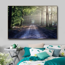 Forest Landscape Canvas Painting Posters and Prints Modern Home Decoration Morning View Wall Art Picture for Living Room Decor buddha statue canvas painting religious wall art picture for living room bedroom decoration posters and prints modern home decor