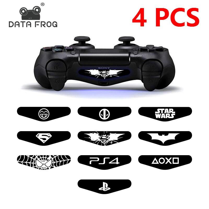 4Pcs/lot LED Light Bar Skin Sticker For Playstation4  PS4 Custom Decal Game Light Bar Sticker For PS4 Dualshock Controller