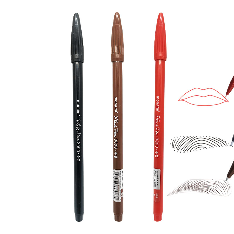 3 Colors Tattoo Pencil Marker Surgical Skin Marker Pen Scribe Tool For Eyebrow Tattoo Piercing Permanent Makeup Tattoo Supplies