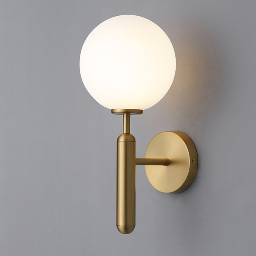 Modern Glass Ball Wall Lights Gold Black Dining Room Bathroom Bedroom Bedside Wall Mounted Lamp Lighting Restaurant Stair Sconce Led Indoor Wall Lamps Aliexpress