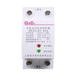 Self reset overvoltage and undervoltage protector photovoltaic overvoltage and undervoltage automatic reset household 40a63a
