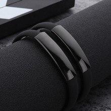 цена на Sangsy 2018 New Fashion Wristband Black Punk Rubber Silicone Stainless Steel Men Bracelets Bangles Pulseras Hombre Caucho