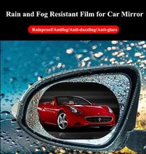 2 pièces/ensemble pour voiture étanche à la pluie Anti brouillard voiture autocollant voiture miroir fenêtre Film transparent Anti voiture voiture accessoires