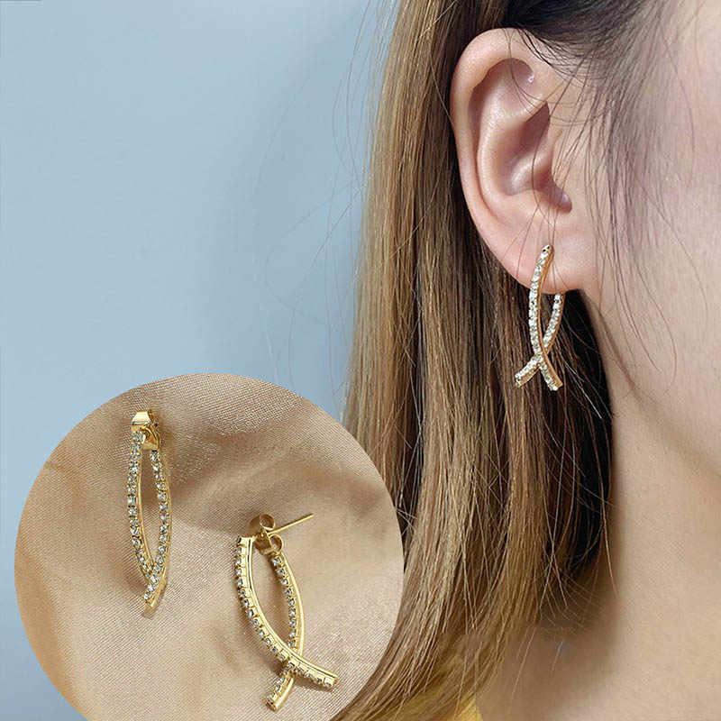 Declaración Redondo Círculo Pendientes aro Dangle gota de perla mujeres moda joyería de oreja