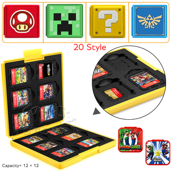 24 in 1 Nintend Switch Game Card Pattern Case Nitendo Hard Protective Cover Storage Box for NintendoSwitch Nintendo Accessories 1