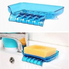 Водопад слив мыло держатель нескользящий мыльница туалет душ лоток слив стеллаж ванная комната гаджеты кухонный держатель для губки в раковину