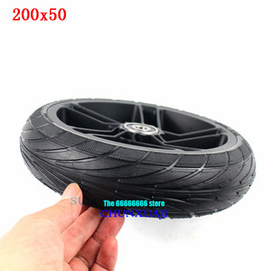 Image 5 - For Xiaomi Ninebot ES1 ES2 ES4 Electric Scooter rear wheel 200x50 Explosion Proof solid tyre 8 inch alloy wheel hub wheel tyre