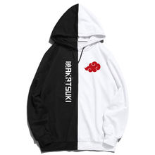 Men Hooded Pullovers Harajuku Streetwear Sweatshirts Summer akatsuki Hoodie Printing The Sharingan Double Color Hoodies